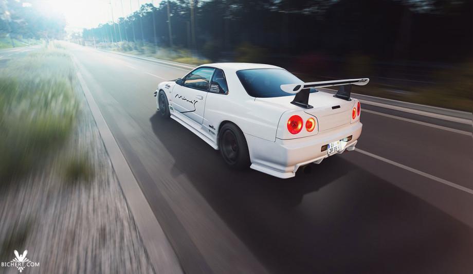 Automotive Photography Fahrtaufnahme vom Nissan Skyline GT-T
