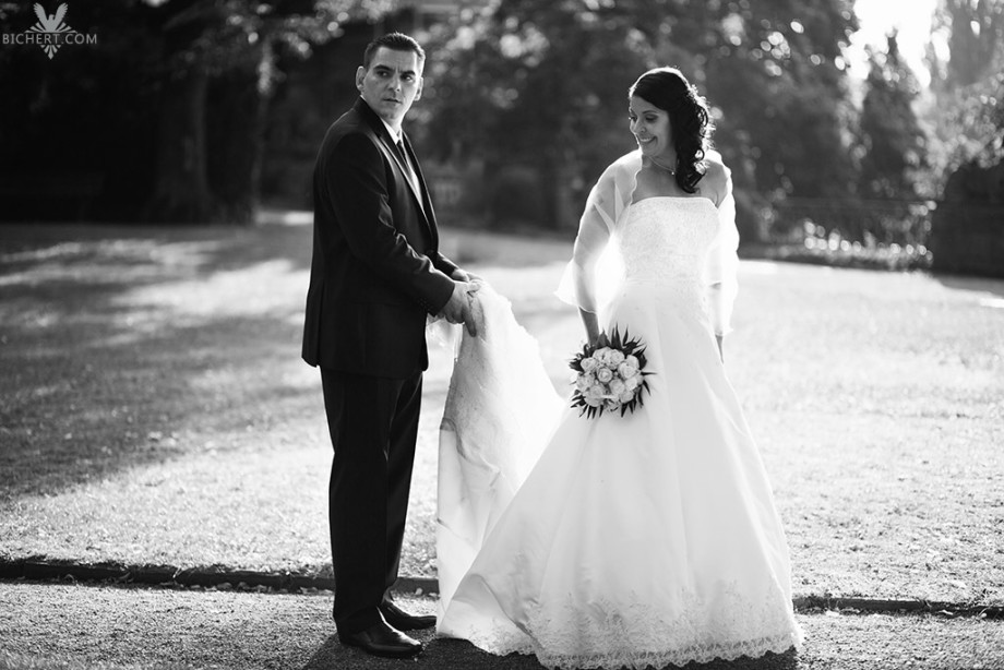 Hochzeitsbilder Frankfurt schwarz weiss