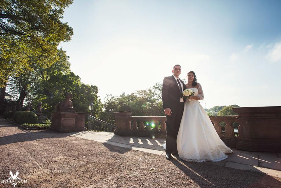 Sehr gutes Wetter für das Brautpaar am Bolongaro Palast.