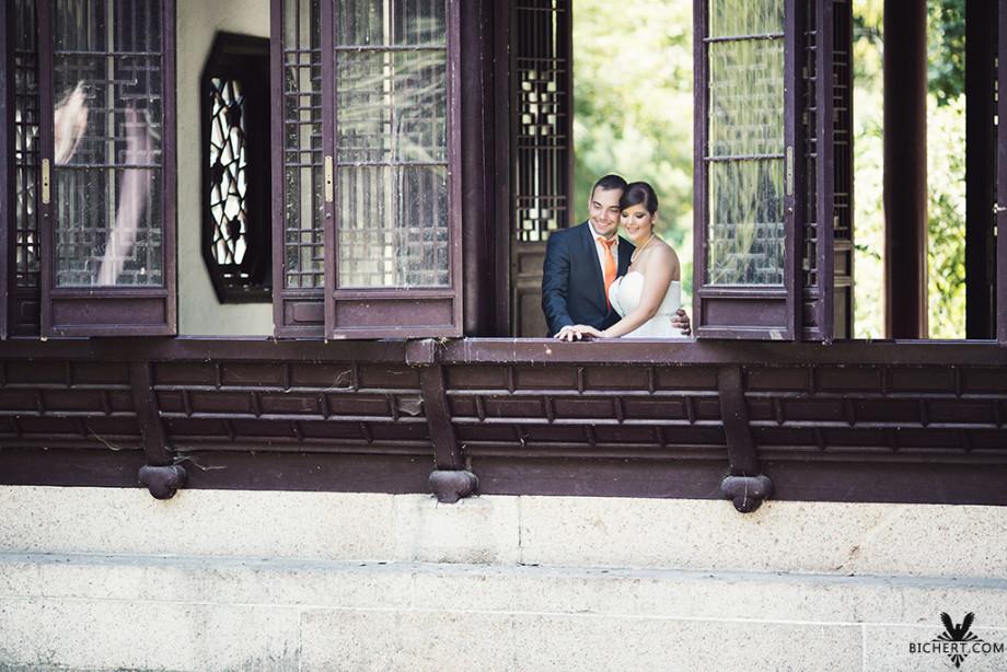 Hochzeitsportraits beim Photoshooting im Bethmann Park Frankfurt am Main