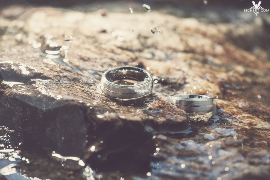 Ringbilder vom Hochzeitsshooting - Wassertropfen
