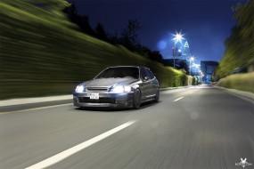 Honda Civic Fahrtaufnahme