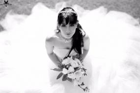 Braut im Rosengarten Schlosshotel