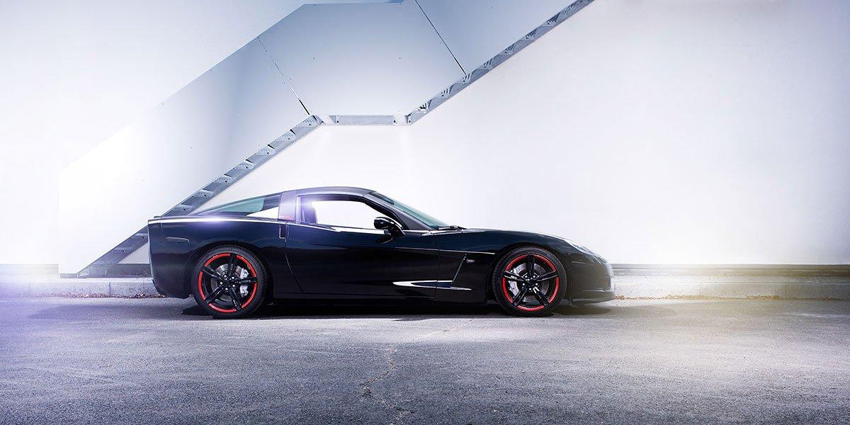 Automobilfotografie Sportwagen Shooting mit einer Corvette C6